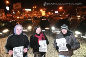 Płock protest kierowców przeciwko wysokim cenom paliw