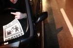 protest kierowców w płocku przeciw wysokim cenom paliwa fotograf zdjęcia fotoreportaż