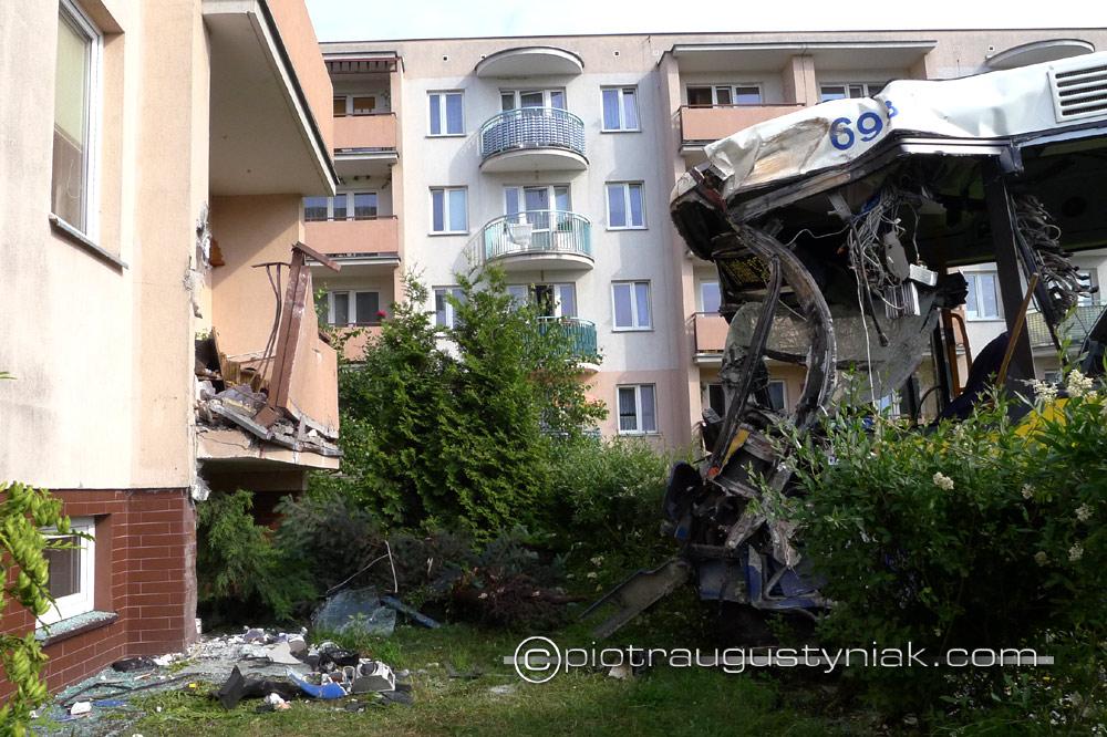 wypadek autobusu Fotograf płock zdjęcia